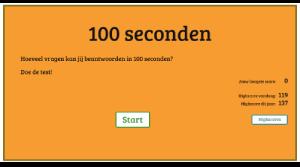100 seconden