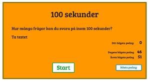100 sekunder