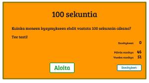 100 sekuntia