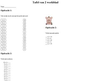 tabel perkalian 2