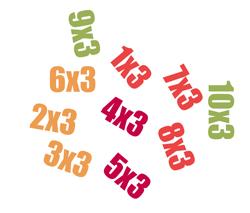 Tafel van 3 oefenen op for Tafels met antwoorden